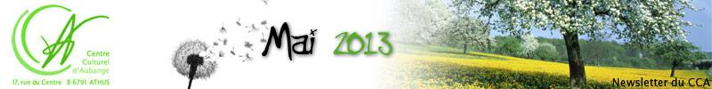 Newsletter du CCA : Mai 2013