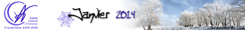Newsletter du CCA : Janvier 2014