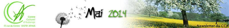 Newsletter du CCA : Mai 2014