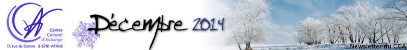 Newsletter du CCA : Décembre 2014