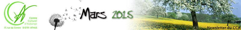 Newsletter du CCA : Mars 2015
