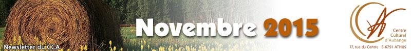 Newsletter du CCA : Novembre 2015